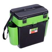 Ящик зимний Helios FISHBOX 25x39/50x38см 19л(зелёный)
