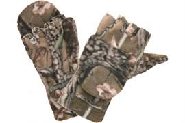 Перчатки-варежки оксф/флис,усил.лад,тр.монжета,лес