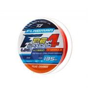 Шнур Flagman PE Hybrid F4 Fluo Orange 135м / 0.06мм / 2,7кг